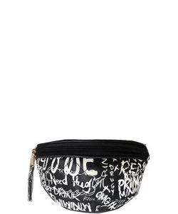 Graffiti Print Fanny Pack 8006 C