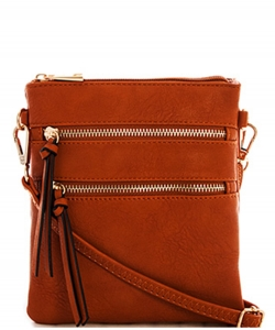 Functional Multi Pocket Crossbody Bag 80808A BROWN