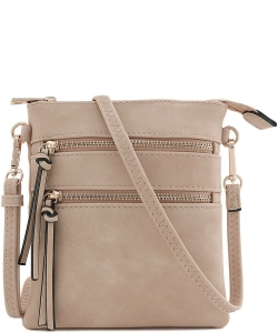 Functional Multi Pocket Cross body Bag 80808A  STONE