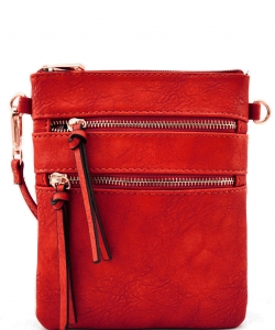Functional Multi Pocket Crossbody Bag 80808A RED