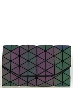 Geometric Checkered Clutch w strap 81064 Luminis