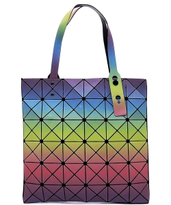 Matte Geometric Checkered Shopper A81065 COLOR