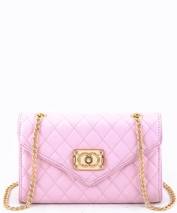81107  Quilt Crossbody Purse Pink