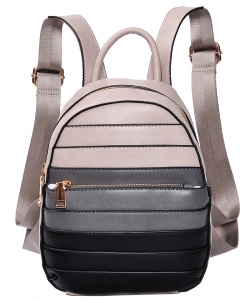 Hardware Accent Fashion Backpack 86248-4 BIEGE