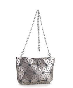 Geometric Crossbody Clutch Bag 87480 CHAMPAGNE