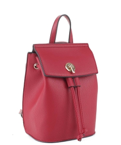 Fashion Convertible Drawstring Backpack 87646 RED