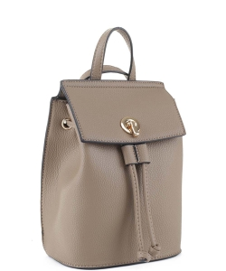 Fashion Convertible Drawstring Backpack 87646 TAUPE