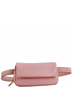 Multi compartment Fashion Fanny Pack 87673 BLUSH