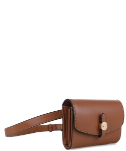Multi compartment Fashion Fanny Pack 87935 BROWN