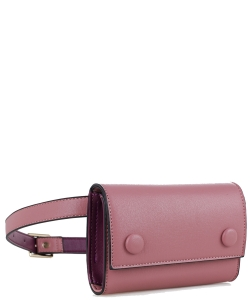 Multi compartment Fashion Fanny Pack 87936 MAUVE