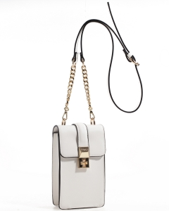 Fashion Modern Crossbody Bag 93009 WHITE