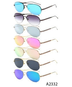 New Fashion Designer Aviator Sunglasses – A2332 – 12 pcs/pack