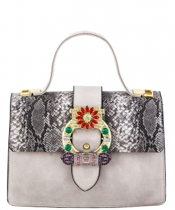 Elegant Modern Colored Fashion Handbag A81034 WHITE