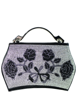 Rhinestone Clutch Purse A9005 BLACK