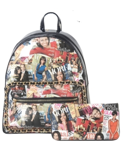 Magazine Print 2 in 1 Backpack AA7311W MULTI