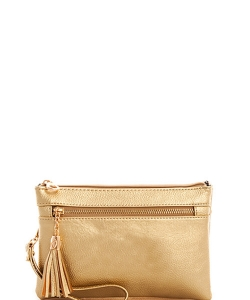 Multi Pocket Crossbody With Two Straps AD2583 GOLD