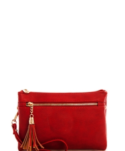 Multi Pocket Crossbody With Two Straps AD2583 RED