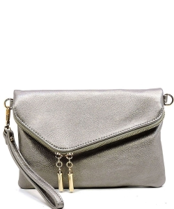 Fashion Crossbody Clutch AD2585  PEWTER