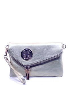 Fashion Logo Envelope Crossbody Clutch AD2585L PEWTER