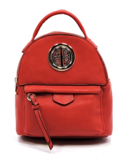 Fashion Logo Cute Backpack AD2586L RED