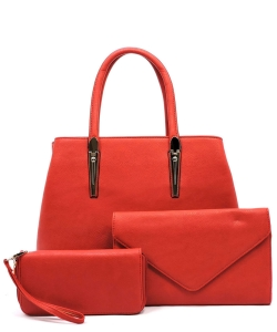 3-in-1 Top Handle Handbag Set AD2678 RED