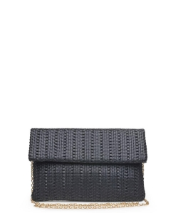 Urban Expressions Addison Clutch Crossbody Bag BLACK