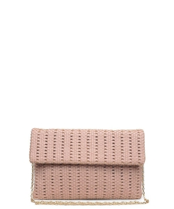 Urban Expressions Addison Clutch Crossbody Bag BLUSH