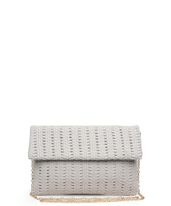 Urban Expressions Addison Clutch Crossbody Bag GRAY