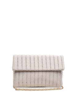 Urban Expressions Addison Clutch Crossbody Bag IVORY