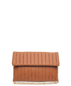 Urban Expressions Addison Clutch Crossbody Bag TAN