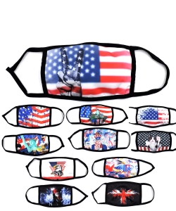 6 Pcs Set 2020 American Flag Mask AFMASK2020