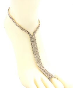 Rhinestone Simple Toering Anklet AN300039 GOLD