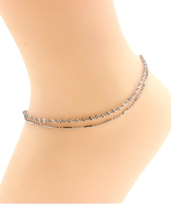 Multi Chain Layered Anklet AN300055 SILVER