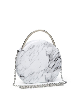 Urban Expressions Aria Clutch Bag WHITE/BLACK