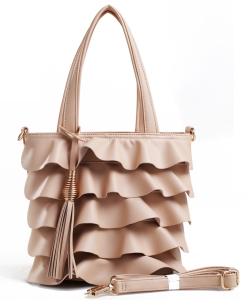 Fashion Faux Leather Handbag AS2197 TAN