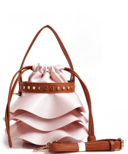 Fashion Faux Leather Handbag AS2198 PINK
