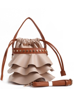 Fashion Faux Leather Handbag AS2198 TAN