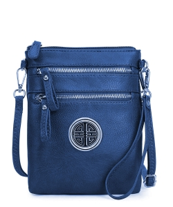 Fashion Logo Multi Pocket Crossbody Bag AD2582L NAVY