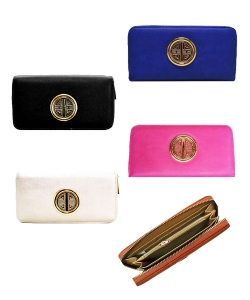 Fashion Leather One Zip Wallet Pack of 12 assorted WU0007 KB0005