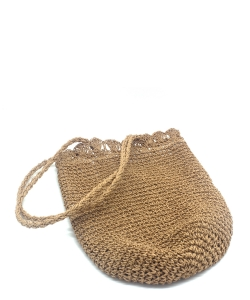 Beach Handbag Fashion Mesh Woven Bag  BA300050  LTAN