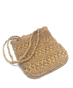Beach Handbag Fashion Mesh Woven Bag  BA300051  LTAN