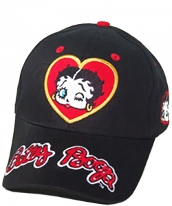 American Favorites BB404A Black Betty Wink Black Baseball Cap