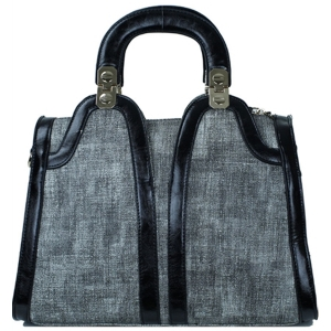 Bora Bora Structured  U-Shaped Handle Handbag BB-414X Black