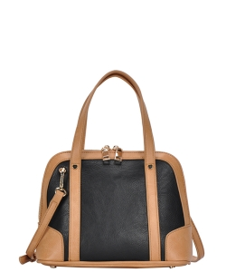 Top Handle Satchel Handbag BGA-3076 BLACK