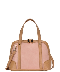 Top Handle Satchel Handbag BGA-3076 BLUSH