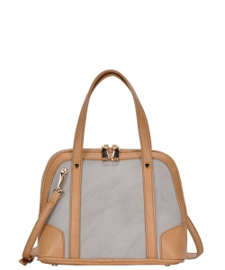 Top Handle Satchel Handbag BGA-3076 GREY