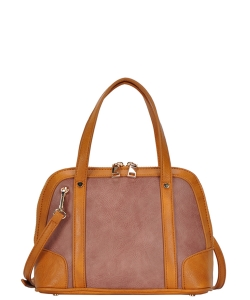Top Handle Satchel Handbag BGA-3076 MAUVE