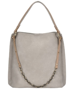 Chain 2-in-1 Shoulder Hobo Bag BGA-4012 GRAY