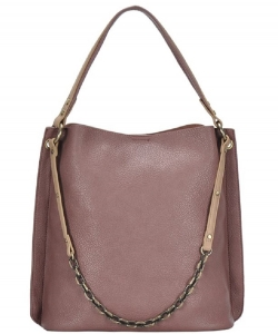 Chain 2-in-1 Shoulder Hobo Bag BGA-4012 MAUVE