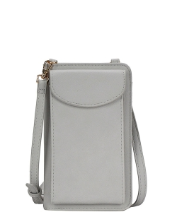 Fashion Chic Multi Pockets Long Wallet Crossbody BGA-48742 LGREY